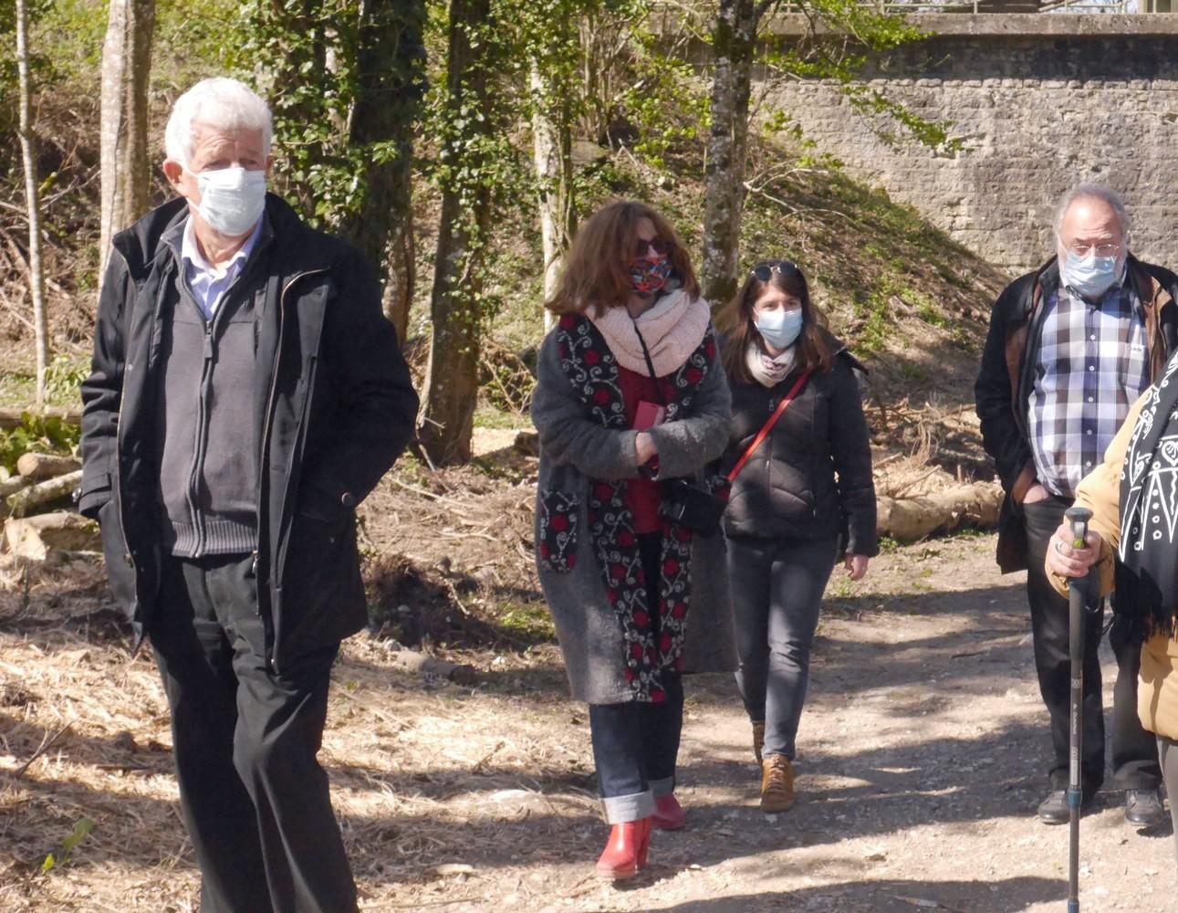 Avril 2021 Avec 2 personnes de la troupe Justiniana, repérage des lieux